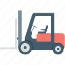 bendi truck, counterbalanced truck, fork truck, forklift truck, vehicle icon