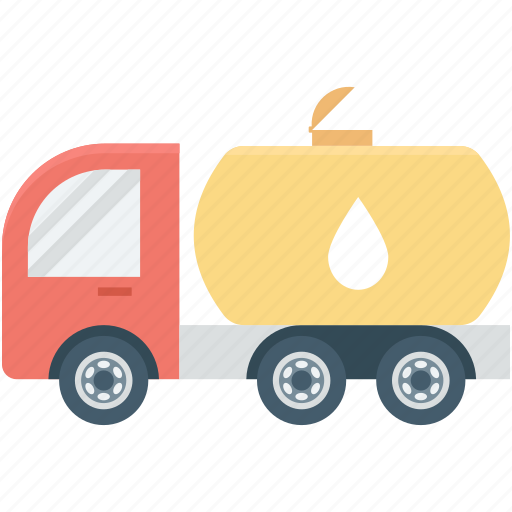 fuel tanker, fuel truck, gas tank, oil tanker, water delivery icon