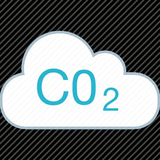 c02, cloud, energy, power icon