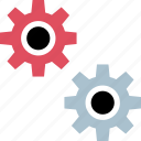 gears, setting, settings, working icon