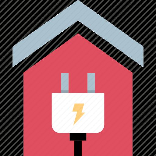 energy, home, lightning, power icon