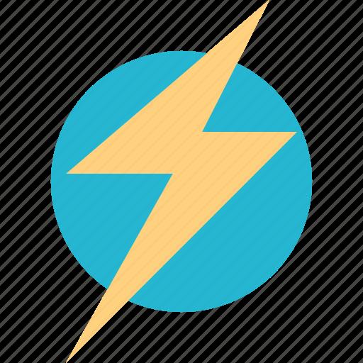 energy, high, lightning, power icon