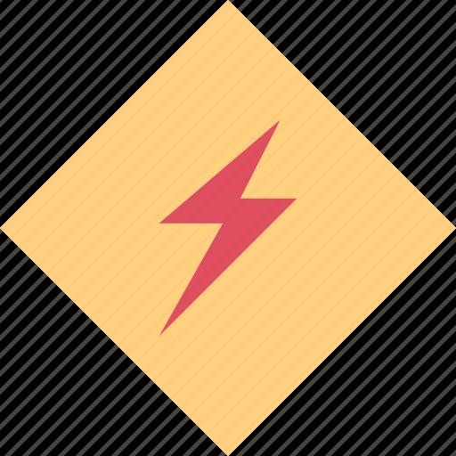 power, voltage, warning icon