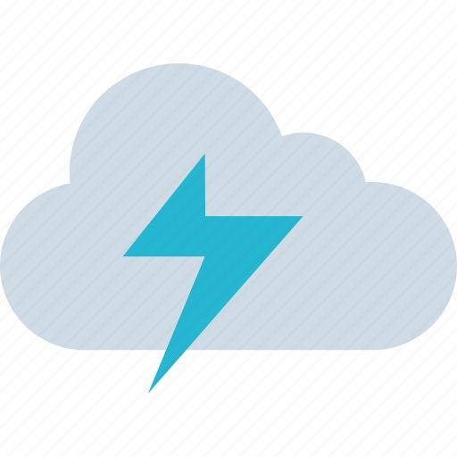 cloud, energy, lightning, weather icon