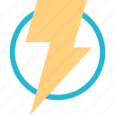 energy, lightning, power, powerful icon