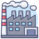 pollution, chimney, factory, industry