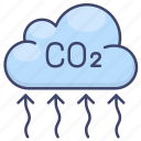 carbon, co2, emission, pollution icon