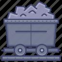 coal, mine, cart, rail