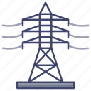 electric, power, transmission, tower icon