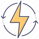 electric, saving, recycling, ecology icon
