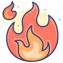 fire, spark, flame, heat icon