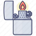 light, fire, lighter, flame icon