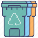 bin, trash, container, recycling icon