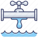 pipe, faucet, tap, water icon
