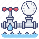 gauge, pipeline, water, pipe icon