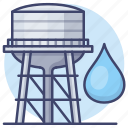 supply, tank, construction, water icon