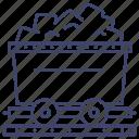 cart, rail, mine, coal