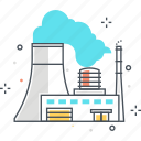 business, energy, factory, plant, power, production, refinery icon
