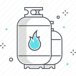 cook, fire, flame, gas, gas tank, heat, power icon