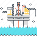 energy, fossil, ocean, offshore, oil, platform, rig icon