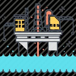 energy, fossil, ocean, offshore, oil, platform, rig icon