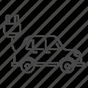 auto, plug, alternative, car, electric, concept, technology icon