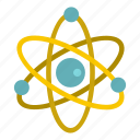 atom, chemistry, molecule, physics, science, scientific, sphere icon