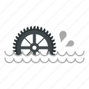 mill, old, power, water, watermill, waterwheel, wheel icon