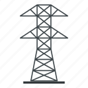 electric, electricity, energy, line, power, tower, wire icon