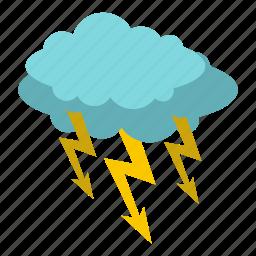 bolt, cloud, electricity, energy, lightning, storm, thunder icon