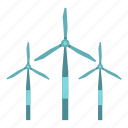 electricity, energy, environment, renewable, turbine, wind, windmill icon