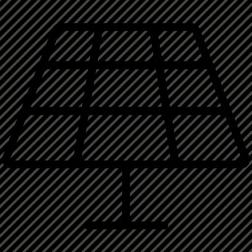 electricity, energy, panel, power, renewable, solar icon