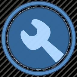 engine, instrument, label, round icon