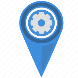 engine, geo, location, part, place, shop, spare icon