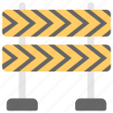construction banner, construction barricade, traffic barrier, under construction barrier icon