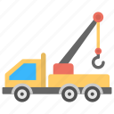 construction crane, crane hook, crane truck, mobile crane, tower crane icon