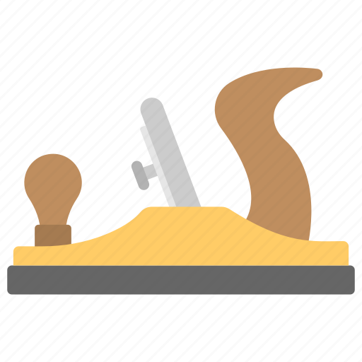 carpentry tool, construction tool, grating tool, iron plane, smoothing plane icon