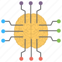 artificial intelligence, brain network, intelligence, machine learning, neuroscience icon