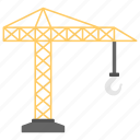 construction crane, crane machine, heavy machinery, industrial crane, tower crane icon
