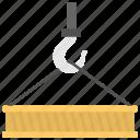 crane lifting, crane service, hydraulic hooklift hoist, lift equipment, lifting load icon