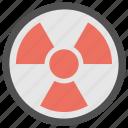 atomic sign, deadly, hazard symbol, radioactive symbol, toxic icon