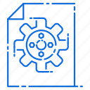 engineering, file, gear, setting icon