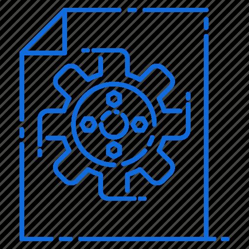 engineering, file, gear, setting icon