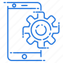 engineering, gear, mobile, setting icon