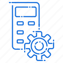 gear, mobile, phone, setting icon