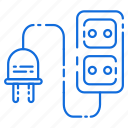 current, electric, plugh, switch icon