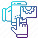engineering, mobile, repair, smartphone, telephone icon