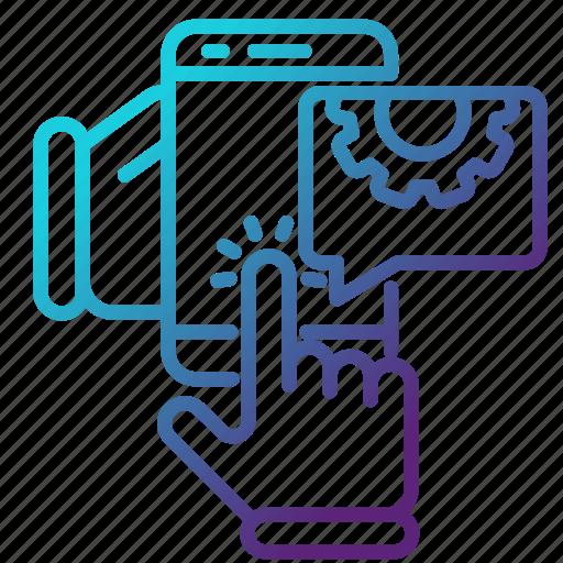 engineering, mobile, repair, smartphone, telephone icon
