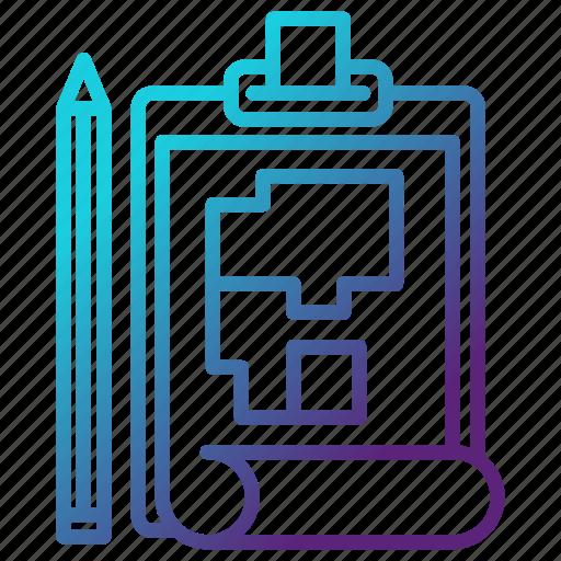 architect, engineering, plan, planning icon