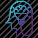 creative, creativity, engineering, idea, thinking icon